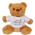 Personalised Wedding Gift Brown Teddy Bear, Black Butterfly Design For Bridesmaids, pageboy's, Flowergirls