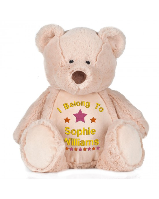 Personalised Embroidered I belong to Cute Large 45cm Teddy