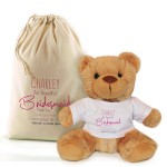 Thank you for being my Bridesmaid, flower girl personalised Teddy bear Gift.