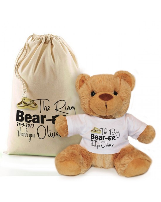 Thank you for being our ring bearer personalised Teddy bear Gift.