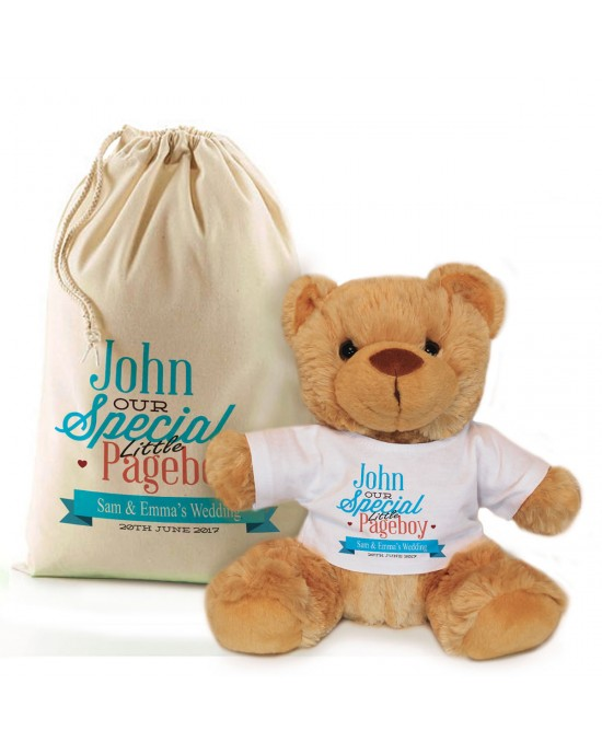 Thank you for being our Page Boy personalised Brown Teddy Bear Gift.