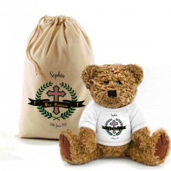 Holy Communion, Baptism, Christening Personalised Teddy Bear In A Bag.