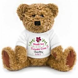 Would you be our Flower Girl Personalised Gift Wrapped Teddy Bear 2 Sizes.