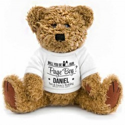 Gift Wrapped Personalised Will You Be OurPage Boy Teddy Bear
