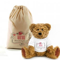 Will You be our Bridesmaid Teddy Bear In A Bag.