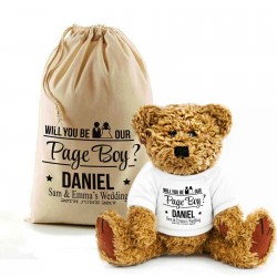 Personalised Teddy Bear In A Bag. Will You Be Our Page Boy?