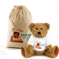 Personalised Birthday Bear In A BAG Gift Idea for girl & boys, change any of the text By Inspired Creative Design
