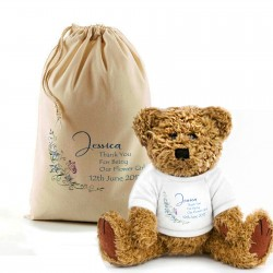 Will You Be Our Flower Girl, Page Boy, Bridesmaid Pretty Teddy Bear In A Bag,