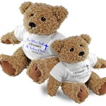 Personalised Bear Christening, Baptism, Naming Day 2 Sizes. Perfect Gift Idea