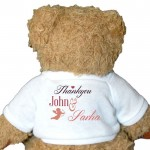Personalised Bear, Wedding, Bridesmaid, Pageboy, Change The Message To Suite Your Needs. 2 Sizes. Perfect Gift Idea