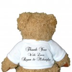 Personalised Teddy, This Cute Bear Delivers Your Personal Message. Birth Baby Boy Christening, Baptism, Naming Day Gift