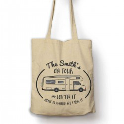 Personalised Motor Home, Camper Cotton Shoulder bag