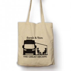 Personalised Motor Home, Great Escape Personalised Cotton Shoulder bag