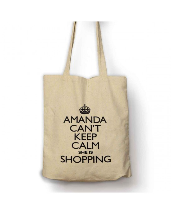 Personalised I Can't Keep calm I Am shopping bag