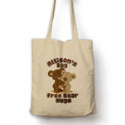 Personalised Free Bear Hugs Cotton Shopping Shoulder bag