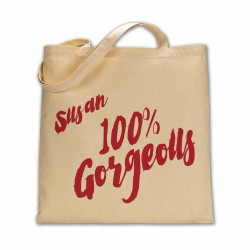 Personalised 100% Gorgeous cotton tote bag.