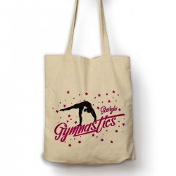 Personalised Gymnastics Star Cotton Tote Bag Shopping Shoulder bag