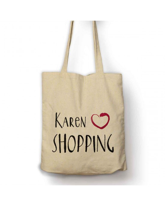 Personalised Love Shopping bag