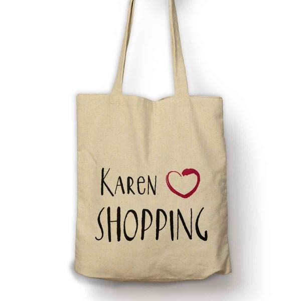 Personalised Love Shopping bag
