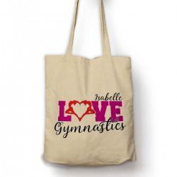Personalised Love Gymnastics  Cotton Tote Bag Shopping Shoulder bag