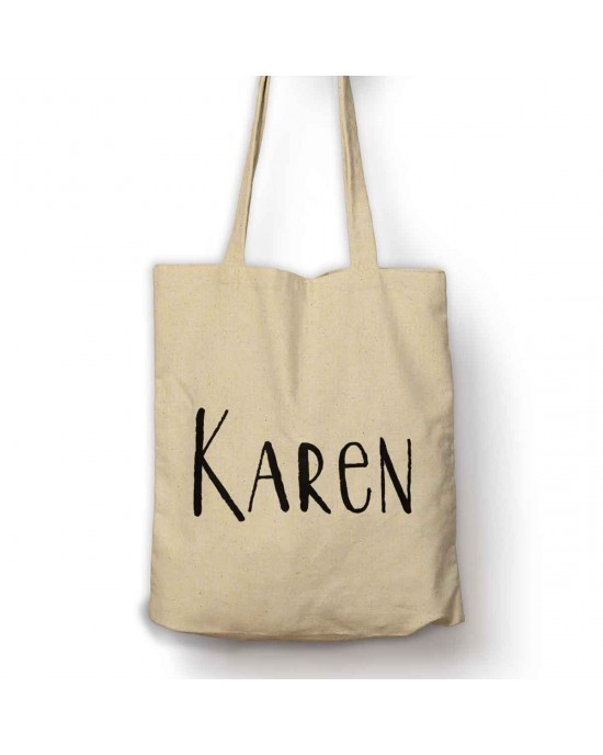 Personalised shopping tote bag. With your name.