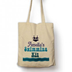 Personalised Swimming Kit bag / Cotton Tote bag.