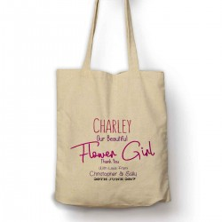 Thank you for being our Flower girl Pretty Personalised  tote bag