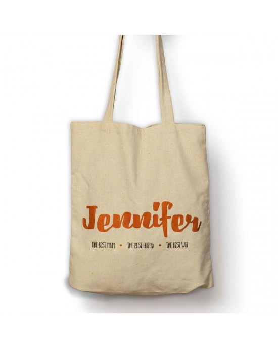 The best Mum, Friend Wife Personalised Bag with your name.
