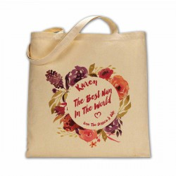 The world best Nan in the worlds personalised cotton bag