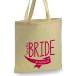 Personalised bride Cotton Tote Bag Wedding Party . Available in two sizes. With Handles