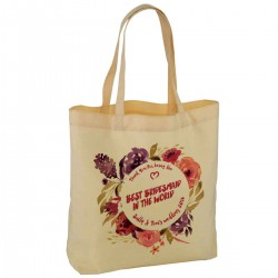 Pretty Floral Water Colour Personalised Wedding Favour Cotton Tote Bag Wedding Party . Available in two sizes.