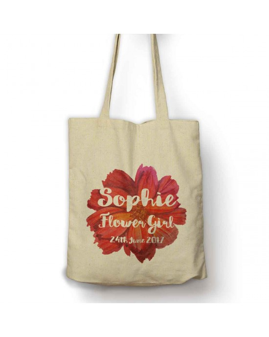 Large Flower Personalised shopping Bag.