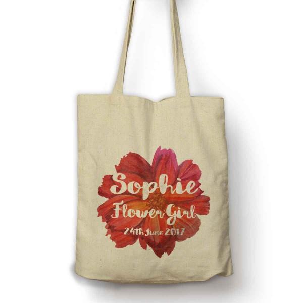 Large Flower Personalised shopping Bag.
