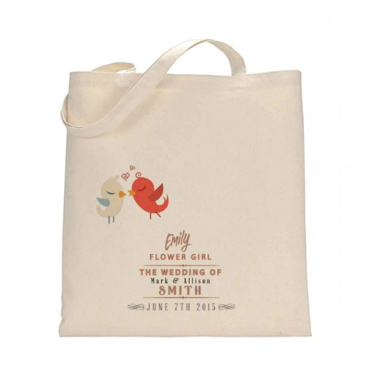 personalised wedding party tote bag available in three sizes