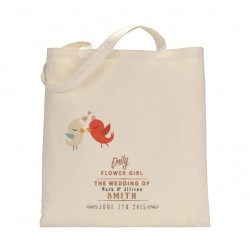 Personalised Wedding Party Tote Bag. Available in three sizes