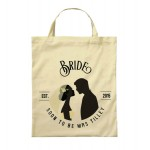 Personalised Brides Wedding Party Cotton Tote Bag. Available in two sizes. With Handles