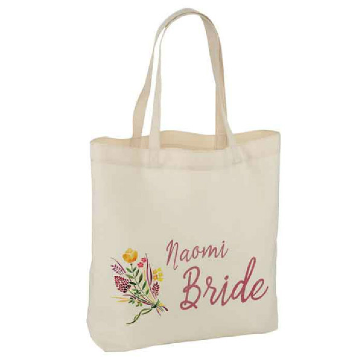 Floral Gifts For Your Wedding Party Personalised White Tote Bag