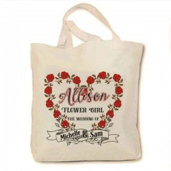 Personalised Wedding Party Tote Bag. Bridesmaid gifts, flower girl,  Available in three sizes