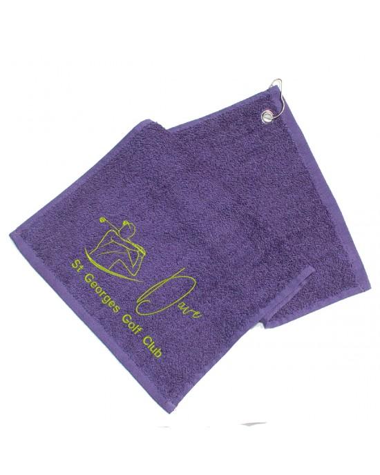 Personalised Golf Towel. Cotton Towel  Dad, Man, Granddad Golfer Gift, Embroidered Towel