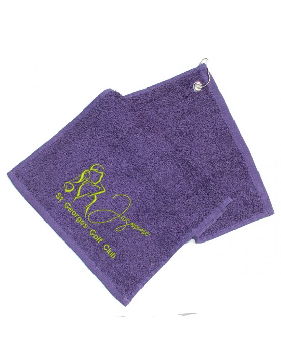 Personalised Golf Towel. Cotton Towel Lady Golfer Gift, Embroidered Towel