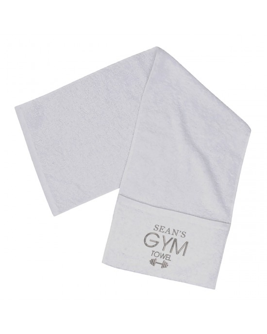 Personalised Embroidered Towel perfect for the gym, with A Zipped Pocket.