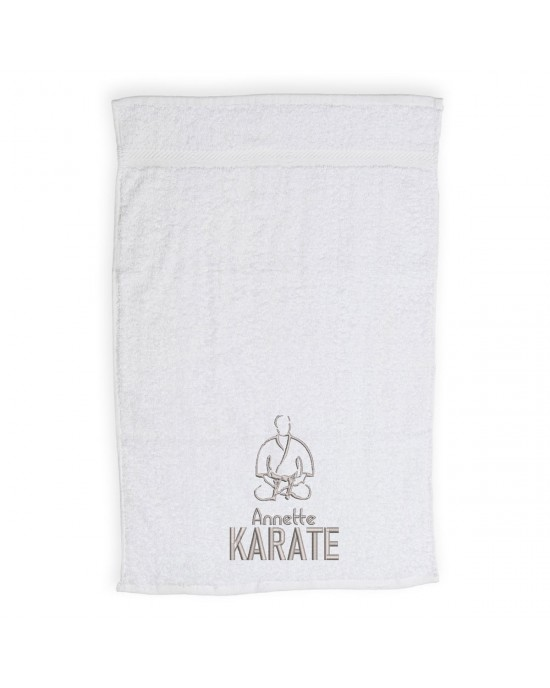Personalised Karate Towel Embroidered with Your Name. Cotton Towel