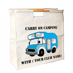 Camper Van Wooden Handle Bag. Great For Loading You Van For Weekends Away.