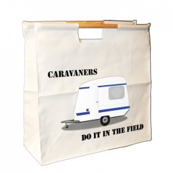 Caravan Wooden Handle Bag. Great For Loading You Van For Weekends Away.