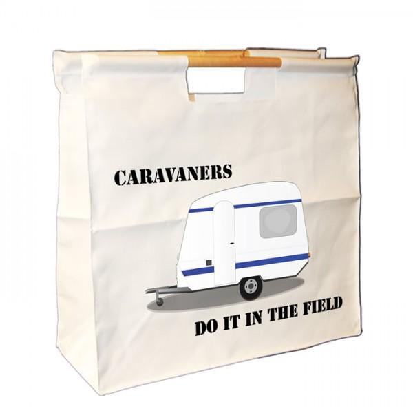 Caravan Wooden Handle Bag. Great For Loading You Van For Weekends Away.