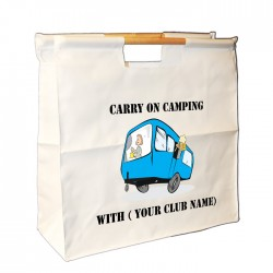 Fun Caravan Personalised Wooden Handle Bag. Great For Loading You Van For Weekends Away.
