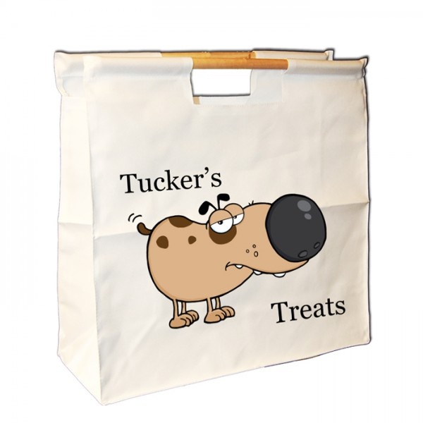 Doggy treats bag, Keep your dogs stuff together. Personalised Wooden Handle Bag