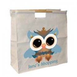 Personalised Owl Design, Sewing Wooden Handle Bag. Great For Keeping All Your Bits Together.