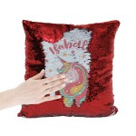 Personalised Unicorn Sequin Glitter Cushion. Personalised With Any Name, Available In Colours