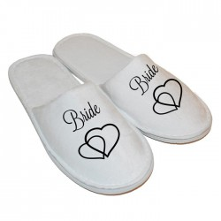 Personalised Slippers Perfect Gift For Your Wedding Morning, Two Sizes